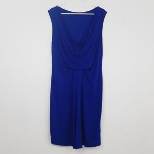 Ted baker royal blue drapey mini dress